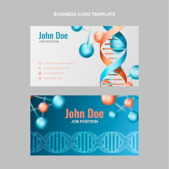 Realistic science horizontal business card