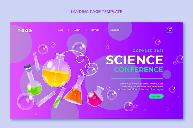 Realistic science landing page