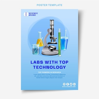 Realistic science poster template