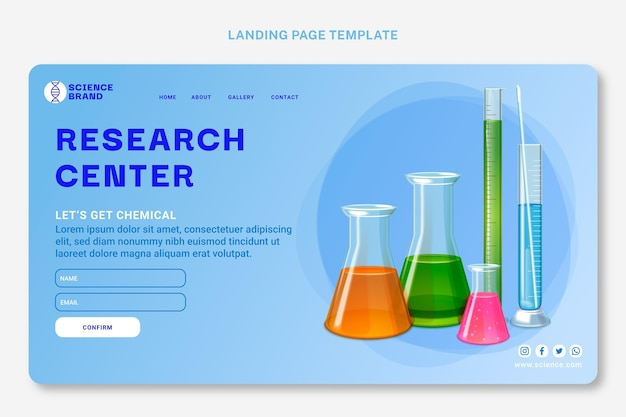 Realistic science web template