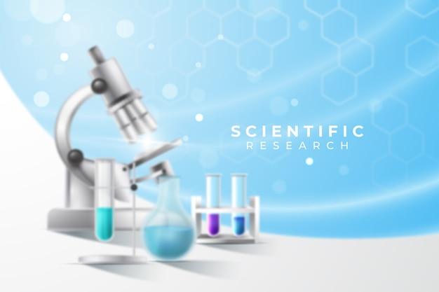Realistico concetto di laboratorio di sciene