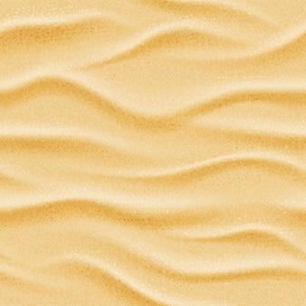 Realistic seamless vector beach sea sand background