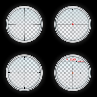 Realistic set of crosshair vector