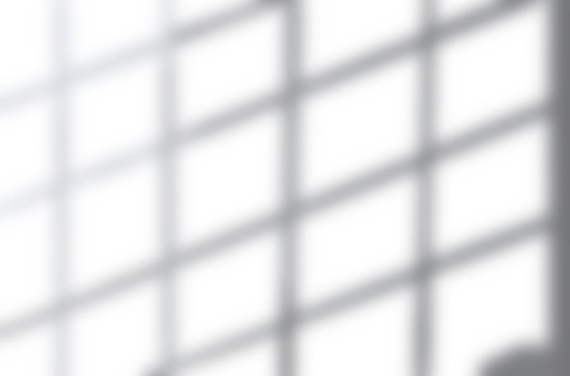 Realistic shadow overlay effects mockup top view composition with grid shaped shadow on wall