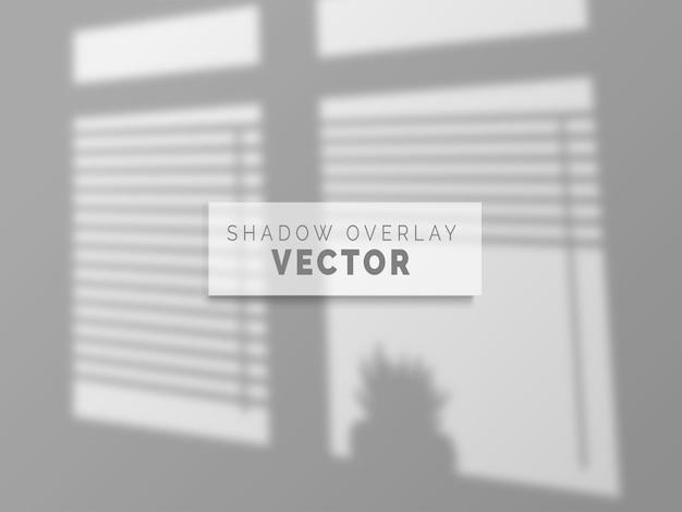Реалистичная тень наложения вектора на чистую стену