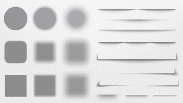 Realistic shadows dividers.