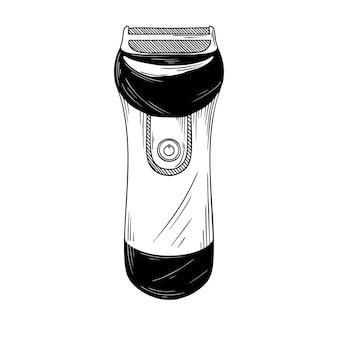 Realistic shaving machine  on white background.  illustration