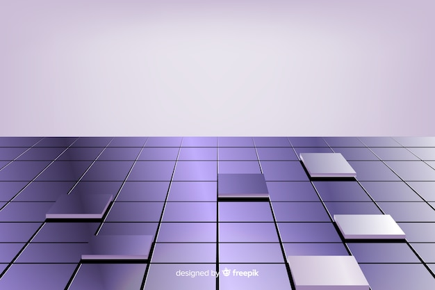 Realistic shiny cubes floor background