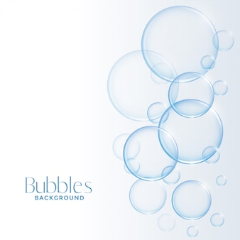 Realistic shiny water or soap bubbles background