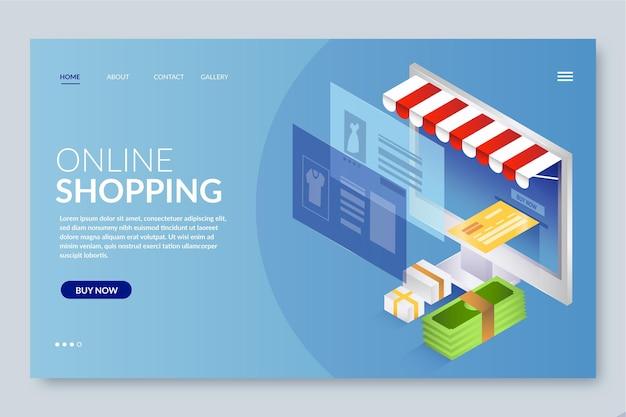 Реалистичные покупки онлайн целевой страницы