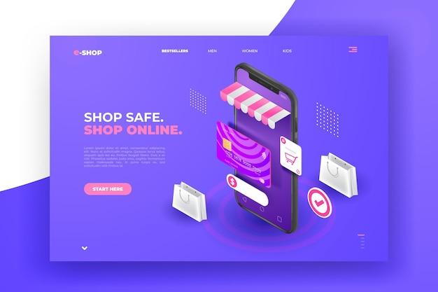 현실적인 쇼핑 온라인 방문 페이지