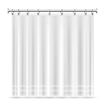 Realistic shower curtains  template for bathroom interior. curtain for bathroom and shower interior