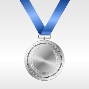 블루 리본에 현실적인 은메달 : 경쟁에서 2 위 수상. 은상 트로피