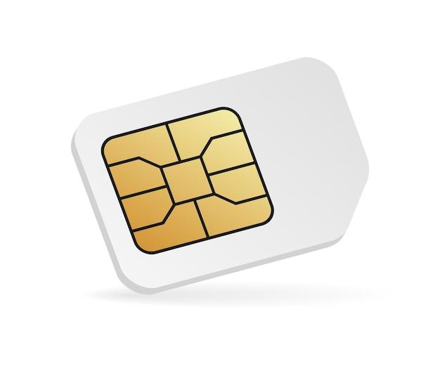 현실적인 sim 카드 모형.