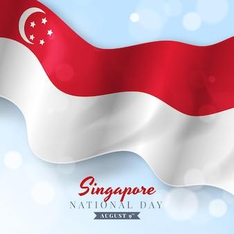 Реалистичная иллюстрация национального дня сингапура