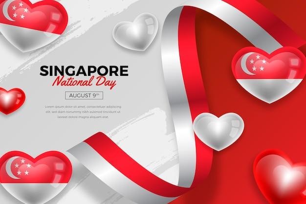 Illustrazione realistica della festa nazionale di singapore