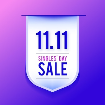 Realistic singles day label