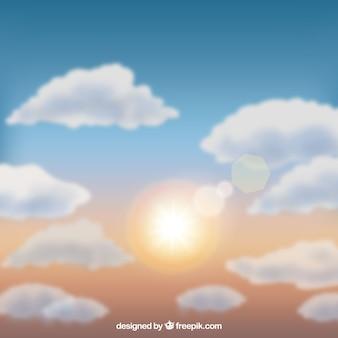 구름과 현실적인 하늘 배경