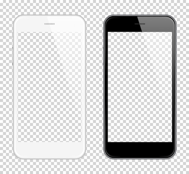 Realistic smart phone vector mock up