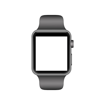 Realistic smart watch with blank empty screen