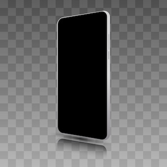 Realistic smartphone . cellphone frame with blank display isolated templates.