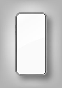 Реалистичный смартфон. рамка мобильного телефона с пустым дисплеем