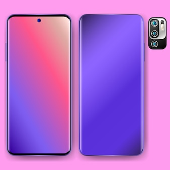Realistic smartphone design three dimensions