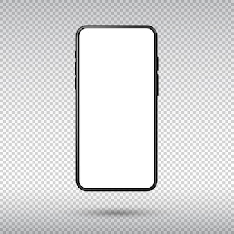 Реалистичный смартфон, изолированные на прозрачном фоне. Premium векторы