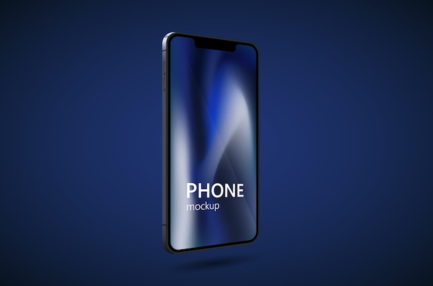 Realistic smartphone mockup. cellphone frame with blank display.