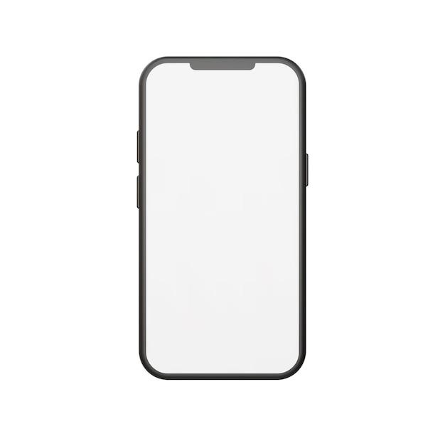 Реалистичная векторная иллюстрация макета смартфона с видом спереди.