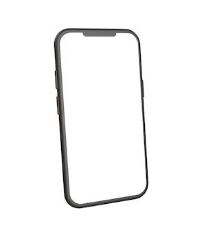 Реалистичная векторная иллюстрация макета смартфона с видом сбоку.