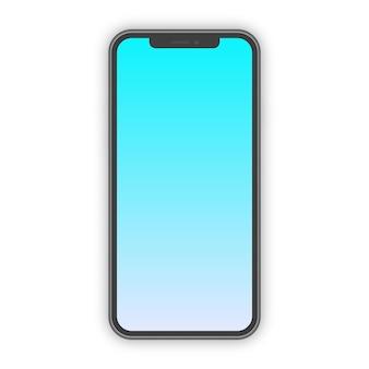 トレンディなグラデーション画面を備えたリアルなスマートフォンのモックアップ