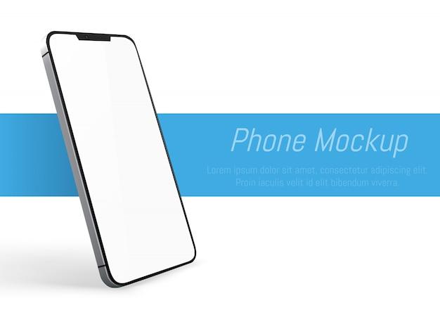 現実的なスマートフォンのモックアップ。