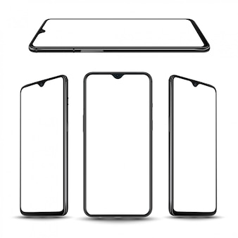 Realistic smartphone template