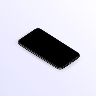 Realistic smartphone template