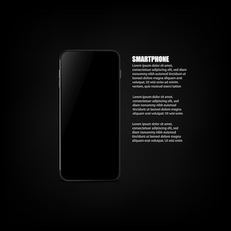 Realistic smartphone with blank screen