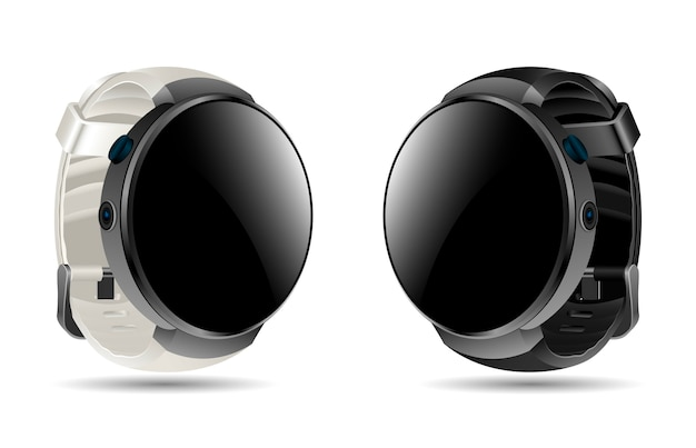 Realistic smartwatch. digital sport wirstwatch.
