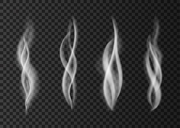 Realistic smoke isolated on transparent background