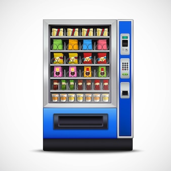 Realistic snacks vending machine
