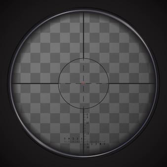 透明な背景に現実的な狙撃視力