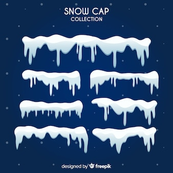 Realistic snow cap collection