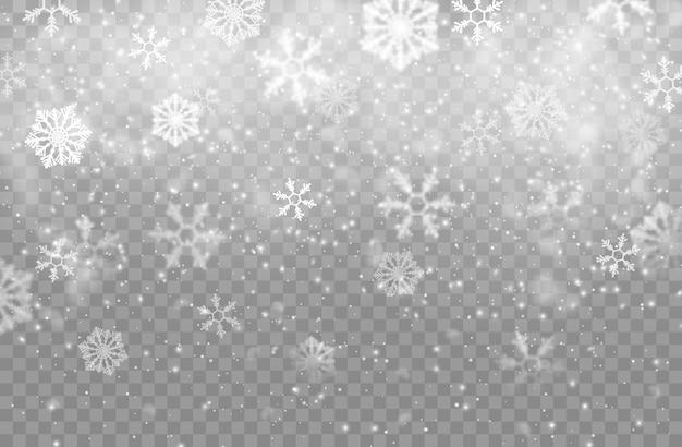 リアルな雪の結晶の背景