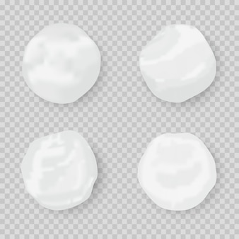 Realistic snow globe . set of snowball icons isolated.  snow circle.