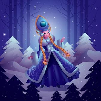 Реалистичный персонаж снегурочки