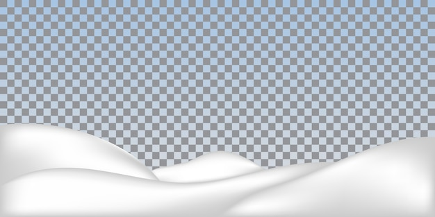 現実的な雪の吹きだまりが分離されました。雪に覆われた風景。
