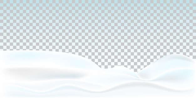 Realistic snowdrift isolated on transparent background. snowy landscape.
