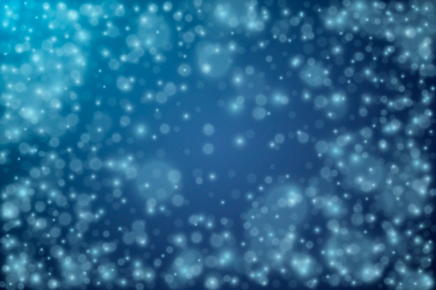 Realistic snowfall background