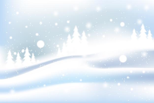 Realistic snowfall screensaver
