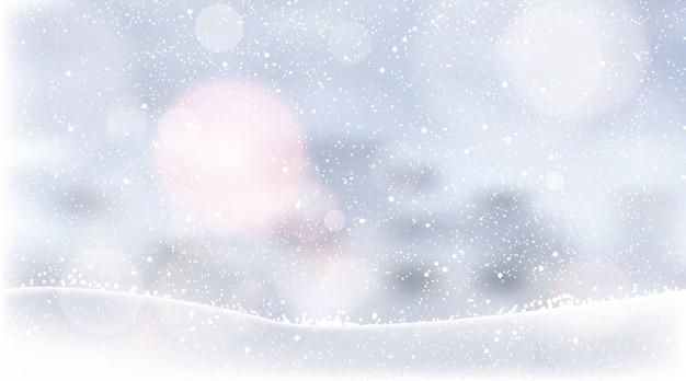 Реалистичные обои снегопад