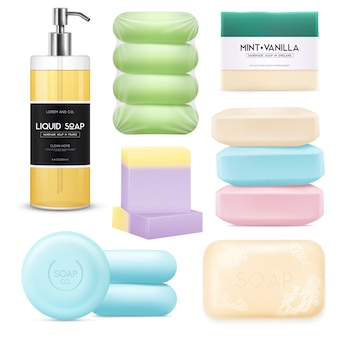 Realistic soap set